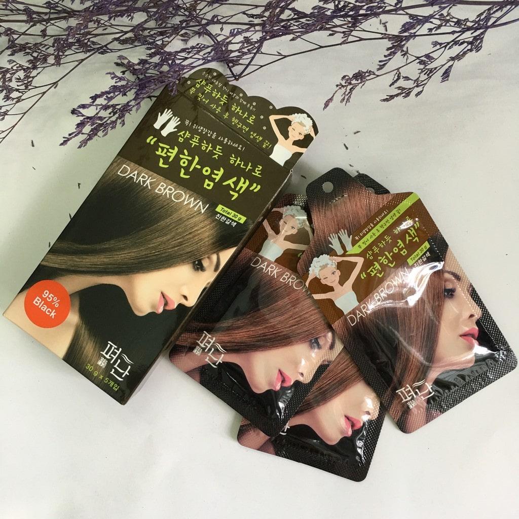 Thuốc nhuộm Dyeing Pyeonan có nhiều màu cho bạn lựa chọn