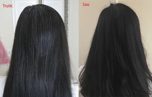 Tóc đen hơn một cách tự nhiên mà không cần nhuộm
