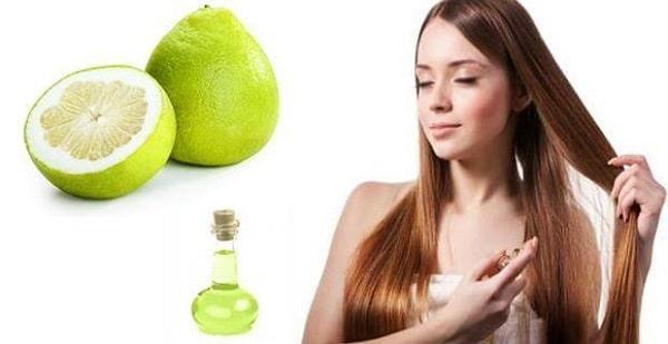 Tạo độ bóng và giữ nếp tóc với công thức dưỡng từ tinh dầu bưởi