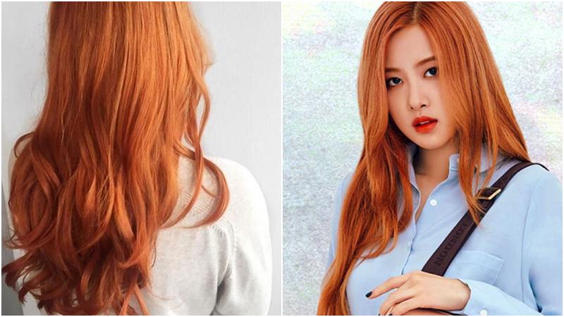 Để tóc lên được màu cam chuẩn bạn cần tẩy tóc