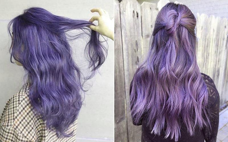 Một chút mộng mơ với mái tóc màu tím oải hương dành cho nàng