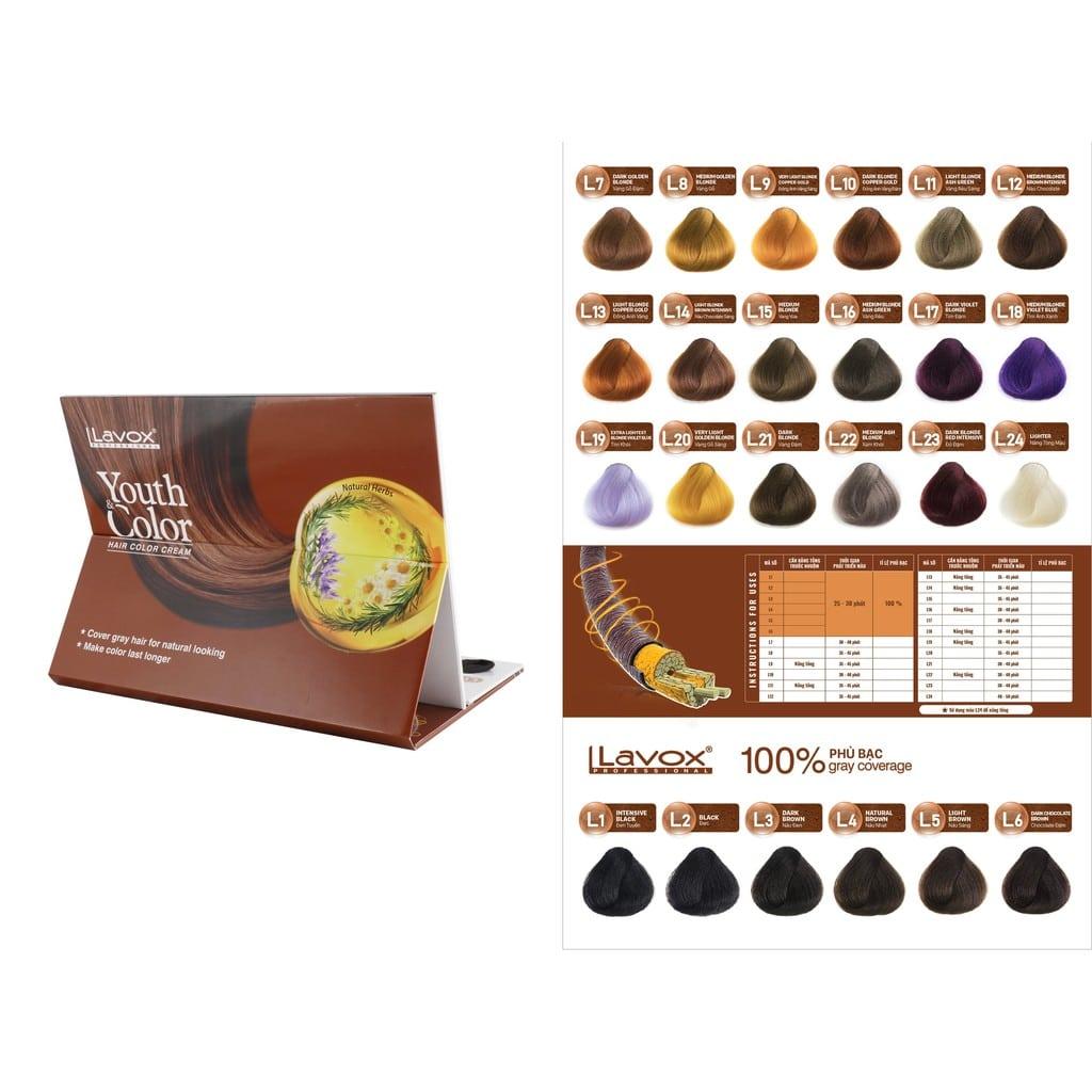 Thuốc nhuộm tóc Lavox lên màu chuẩn và giữ màu cực bền dành cho mọi lứa tuổi