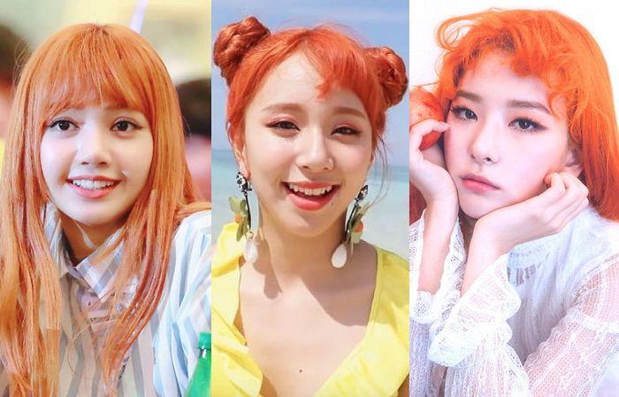 Nhuộm tóc màu cam chuẩn như sao Hàn