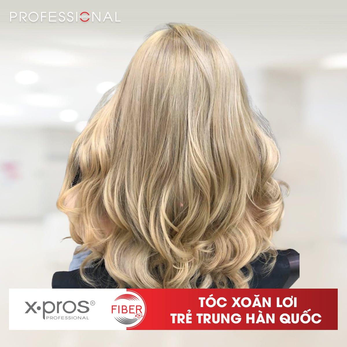 Uốn Setting X.PROS FIBER giải quyết mọi vấn đề tóc xơ rối và khô sau khi uốn