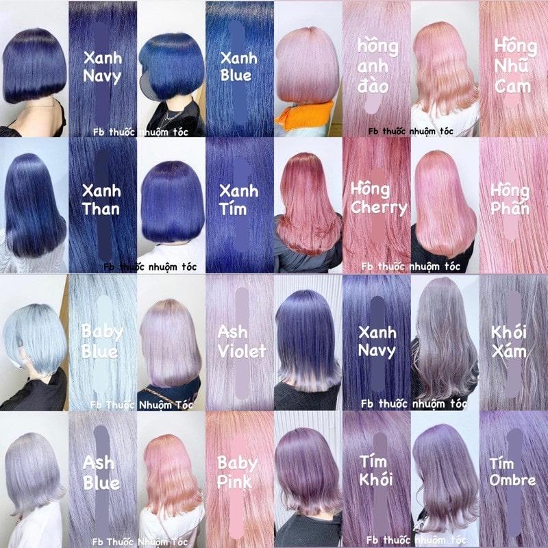 Nhuộm tóc màu Hàn Quốc siêu đẹp