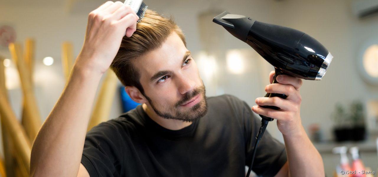 Máy sấy tóc dùng nhiệt nóng để giữ độ phồng