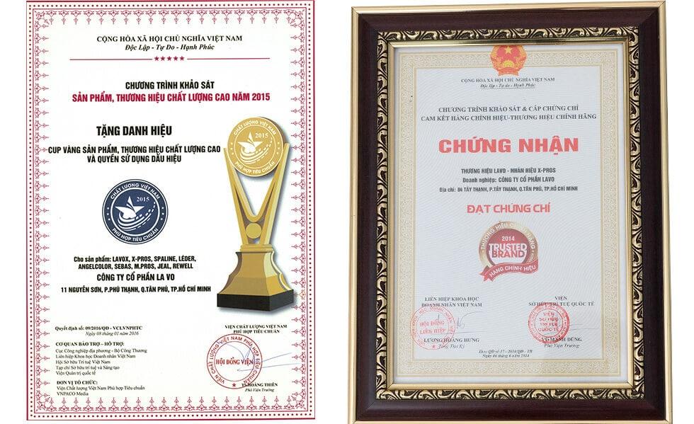 Các sản phẩm của công ty Lavo nhận được danh hiệu sản phẩm chất lượng cao