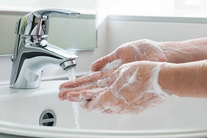 Lưu sản phẩm trên tay quá nhanh sẽ không làm sạch được vi khuẩn