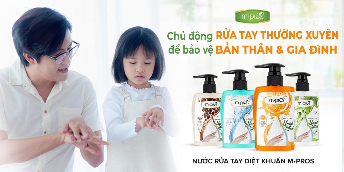 Nước rửa tay diệt khuẩn M.Pros sự lựa chọn của mọi gia đình