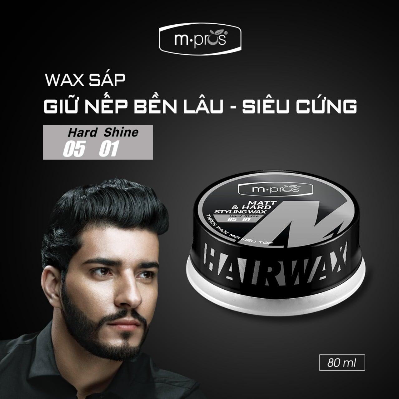 Wax sáp M.Pros hoàn hảo cho những mái tóc bóng dầu muốn tạo kiểu