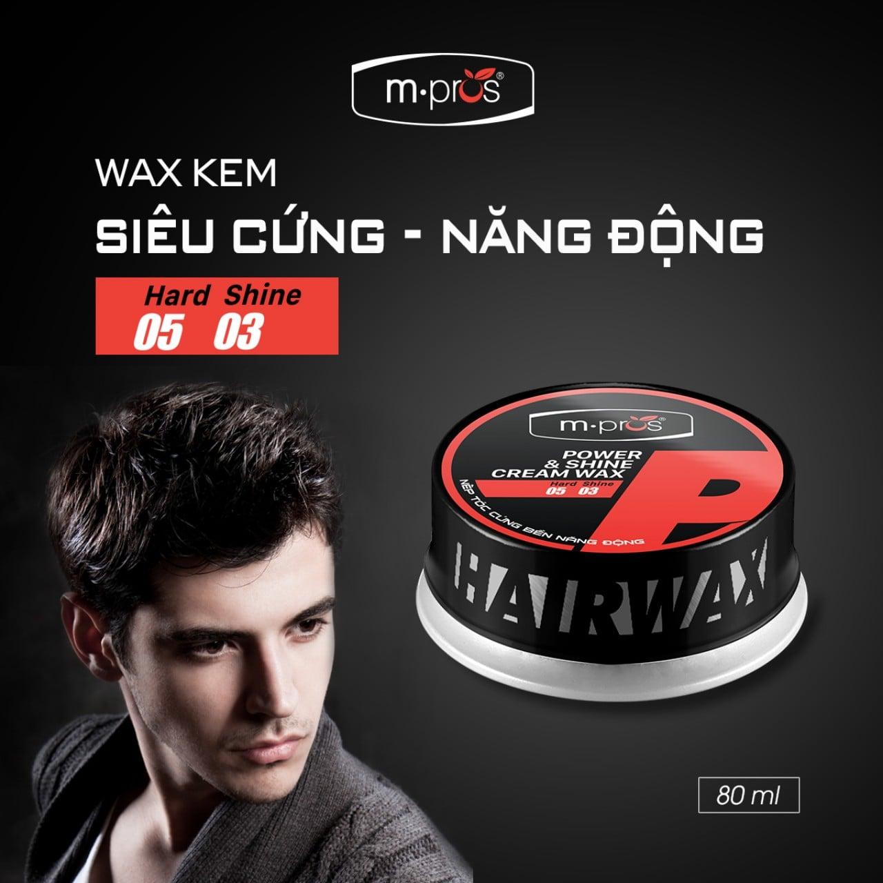 Wax kem M.Pros kết cấu dịu nhẹ phù hợp cho cả tóc ướt hay khô