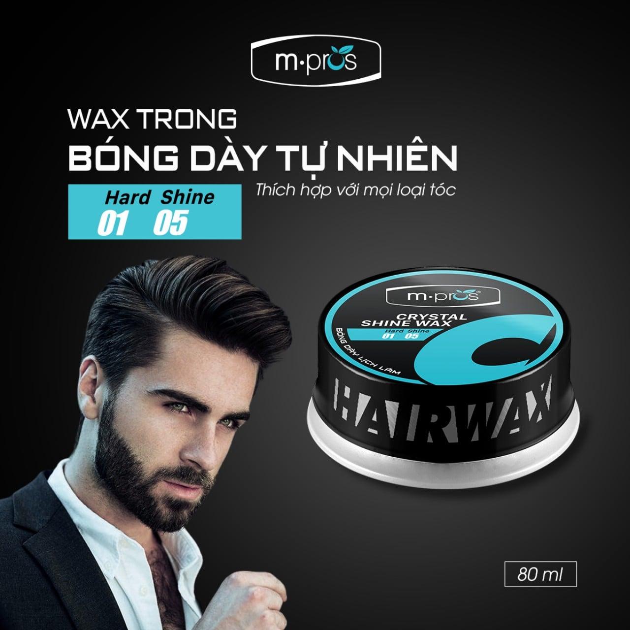 Wax trong của M.Pros sự lựa chọn giúp bạn có mái tóc hoàn hảo