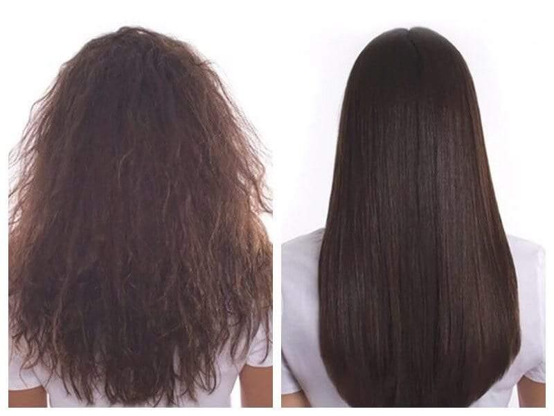 Khác biệt rõ rệt sau khi ủ tóc keratin collagen